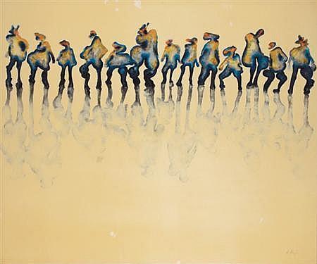 Bernard Dreyfus Nicaraguan, b. 1940 Projection Bleue sur Bitume Blanc