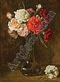 Charles Ethan Porter American, 1847-1923 Carnations and Roses in a Glass Vase, Charles Ethan Porter, Click for value