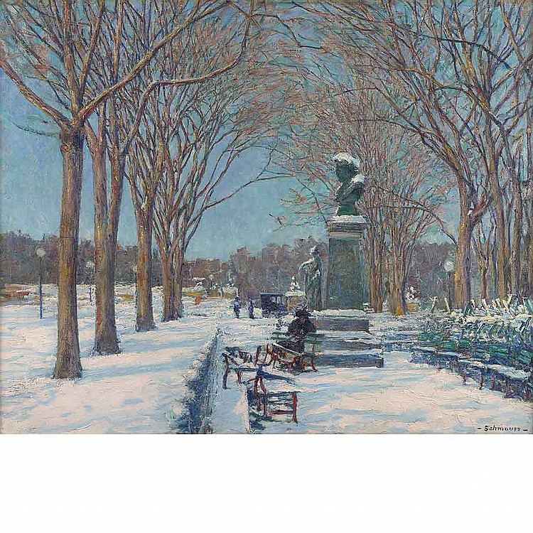 Peter Schmauss American, 1868-1938 Park in Winter