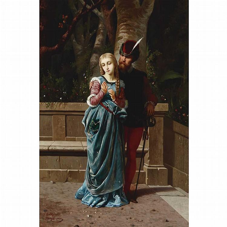 Gabriele Castagnola Italian, 1828-1883 Faust and Marguerite, 1870