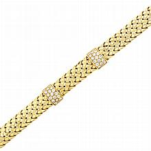 Gold and Diamond 'Vannerie' Bracelet, Tiffany & Co.