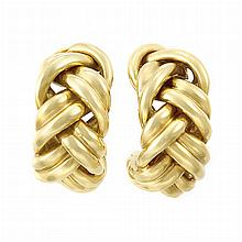 Pair of Gold Hoop Earclips