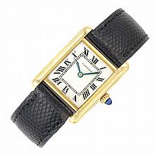 Gold Tank Wristwatch, Cartier
