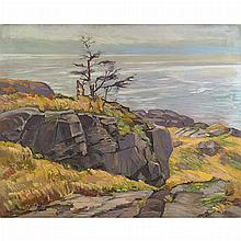 Abraham Jacob Bogdanove Russian/American, 1887-1946 The Lone Tree, Crow's Nest, Mohegan