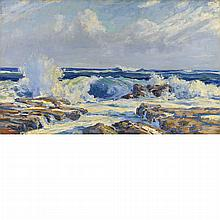 Jay Hall Connaway American, 1893-1970 Crashing Surf, 1925