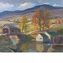 Emile Albert Gruppe American, 1896-1978 Fall, Vermont Landscape, 1965