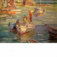 Antonio Cirino American, 1889-1983 Fishing Boats, Massachusetts