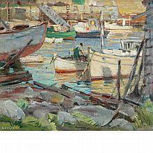 Antonio Cirino American, 1889-1983 Crowded Harbor
