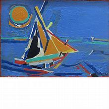 Francoise Gilot French, b. 1921 Bateaux, 1964