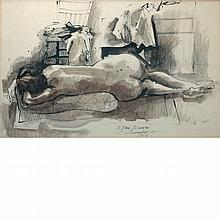 Byron Browne American, 1907-1961 Woman in Repose, 1956