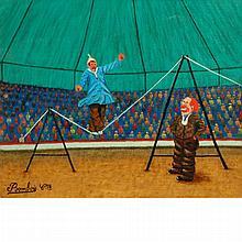 Camille Bombois French, 1883-1970 Scene de Cirque