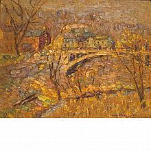 John Wells James American, 1873-1951 Bridge at New Hope