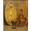 Anna Richards Brewster American, 1870-1952 Indian Pottery and Copper Kettle, 1945   Signed with initials AB...