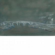Arthur Bowen Davies American, 1863-1928 Pont Mare, Paris, 1925