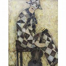 Georges Girard French, 1917-2003 (i) Le Musicien, 1972 (ii) Saintes Maries, 1969