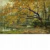 Auguste Breugelmans Belgian, 20th Century River Landscape