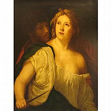 Manner of Palma Vecchio Tarquin and Lucretia