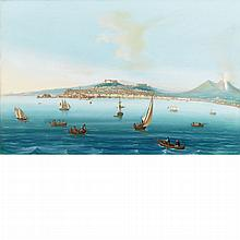Neapolitan School 19th/20th Century View of Naples from the Bay