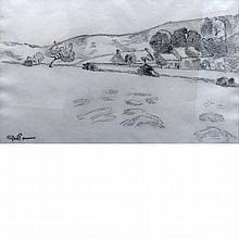 Armand Guillaumin French, 1841-1927 Paysage avec Ferme et Collines