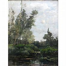 Maurice Levis French, 1860-1940 Summer Pond, 1890