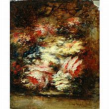 Narcisse Virgile Diaz de la Pena French, 1808-1876 Jete de Fleurs, 1856