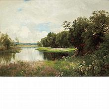 John Clayton Adams English, 1840-1906 The Fringe of the River, Ewhurst Hill, Guildford, 1894