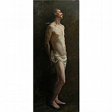 Attributed to Adolphe Charles Edouard Steinheil Male Model