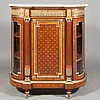 Louis XVI Style Gilt-Bronze Mounted Walnut and Burl-Walnut Parquetry Inlaid Side Cabinet