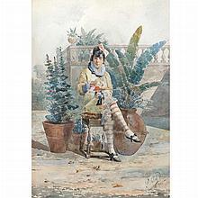 Salvatore Valeri Italian, 1856-1946 A Reflective Moment