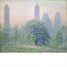 Johann Berthelsen American, 1883-1972 Morning in Central Park