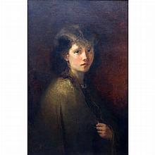 Christoffel Bisschop Dutch, 1828-1904 Portrait of a Girl