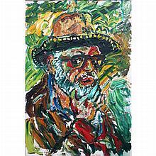 John Bratby British, 1928-1992 Self-Portrait