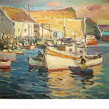 Antonio Cirino American, 1889-1983 Fishing Boats