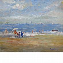 Ronald Ossory Dunlop Irish, 1894-1973 Beach Scene
