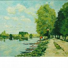 William Foreman English, b. 1939 The Seine at Moret