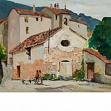 Anthony Thieme American, 1888-1954 Mexican Village Street