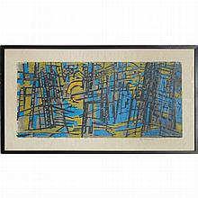 Werner Drewes FOREST Color woodcut