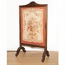 French Provincial Style Oak Fire Screen