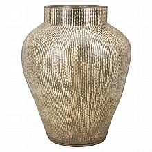 Japanese Glazed Pottery Vase