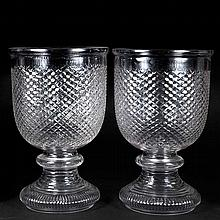 Pair of Glass Urn-Form Vases