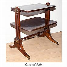 Pair of Regency Style Mahogany End Tables