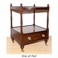 Pair of Regency Style Mahogany Bedside Tables