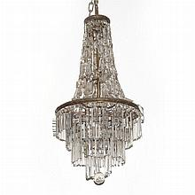 Louis XVI Style Gilt-Metal and Glass Chandelier