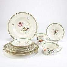 Royal Copenhagen Porcelain Partial Dinner Service