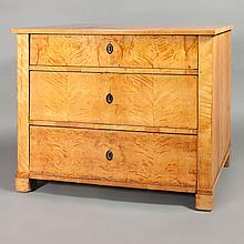 Biedermeier Birch Chest of Drawers