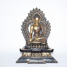 Chinese Gilt-Bronze Figure of a Seated Buddha