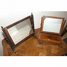 Two Mahogany Dressing Mirrors