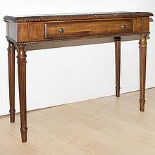 Neoclassical Style Stained Wood Console