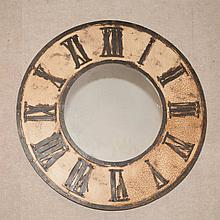Painted Metal Clock-Form Mirror