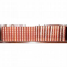 [FINE BINDINGS] LAMB, CHARLES. Works. Troy: Pafraets, n.d. One of 250 sets of the Edmonton Edition. Finely bound in full red...